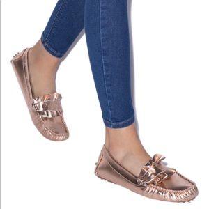 Ruffled Flat Moccasin shoe